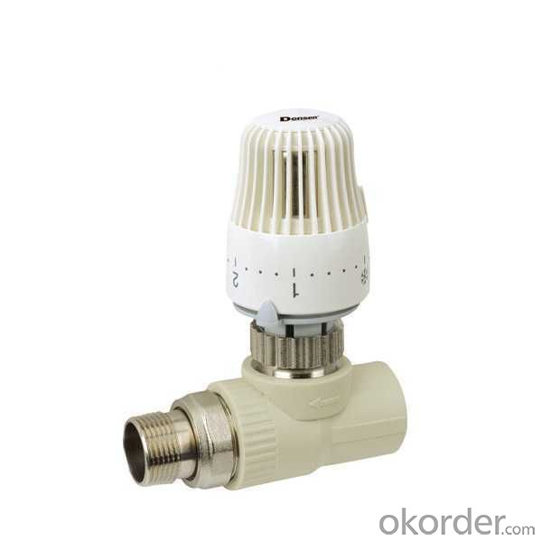 High  Quality PP-R straight stop valve with temperature control automatically