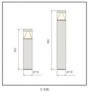 Die-casting aluminum cover Bollard Lighting
