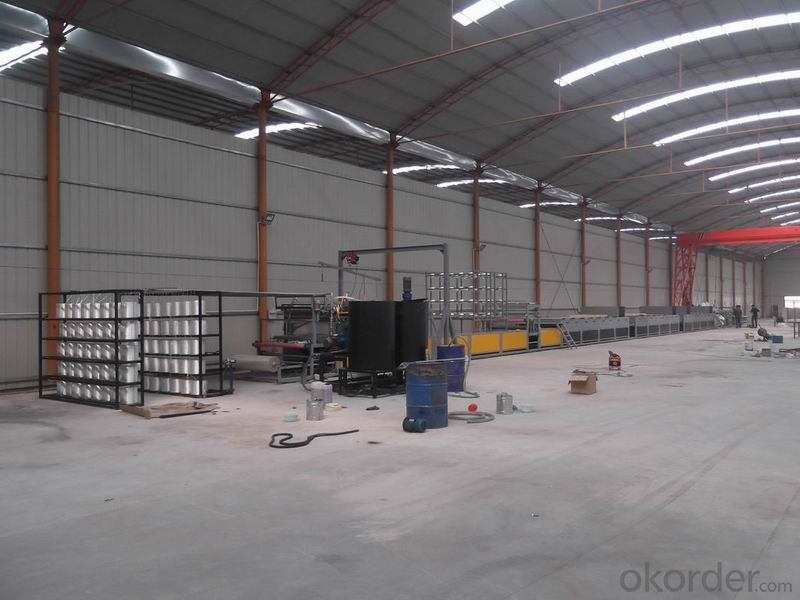 FRP lighting tile production line