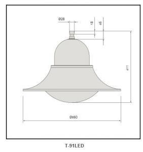 PC diffuser Galvanized steel plate street light T-91LED