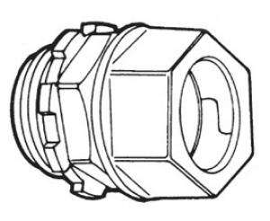 COMPRESSION EMT CONNECTOR-ZINC,EMT couplings