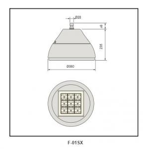 flat tempered glass cover  Highbay Lighting F-01sX