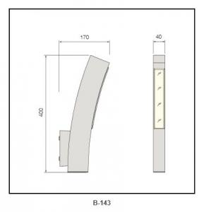extruded aluminum body PC diffuser  wall light B-143