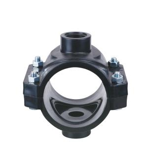 High  Quality  Double clamp saddle with reinforcing ring PN16.