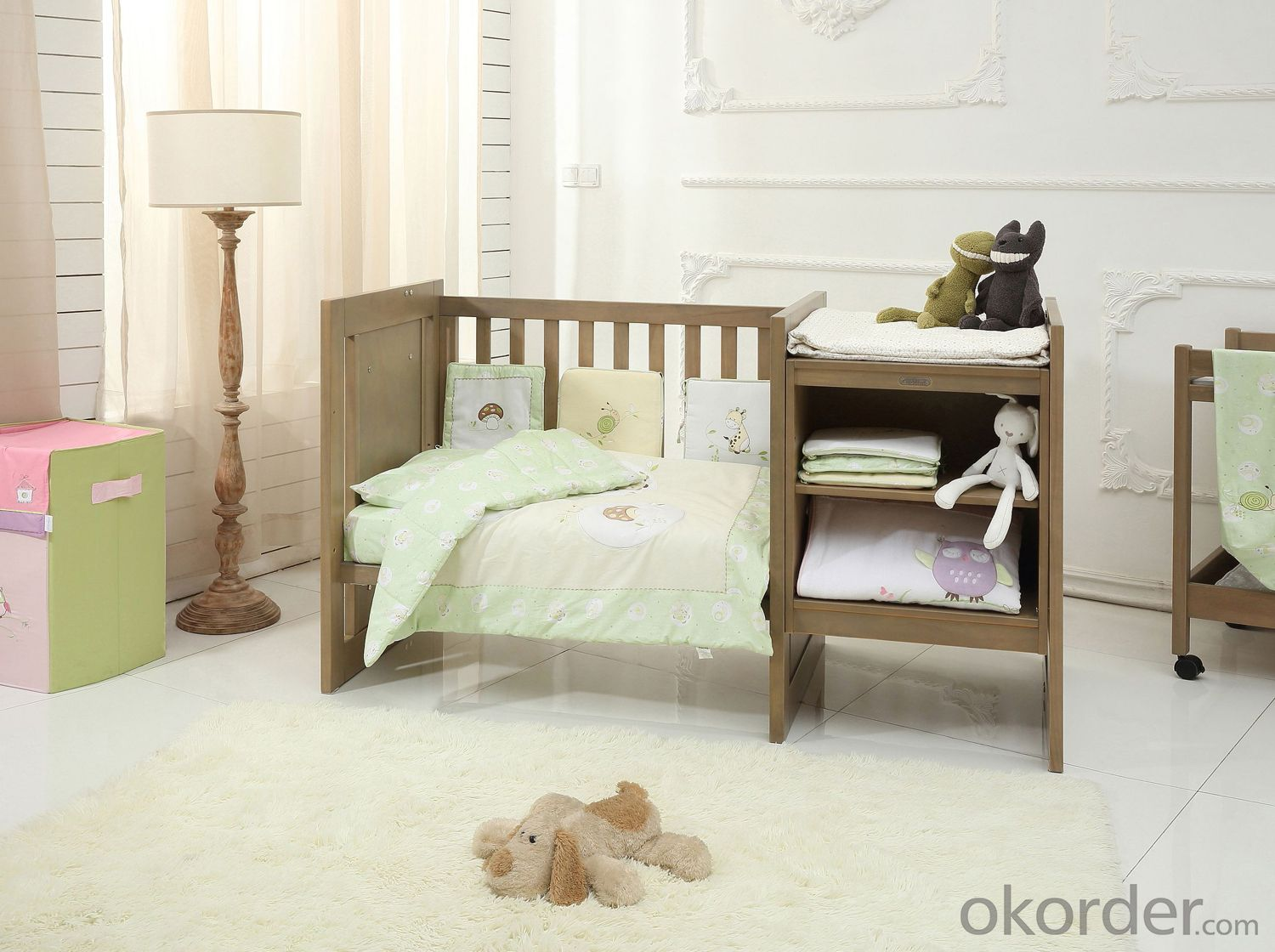 Overture Caboodle 2016 hot sale Soild Wooden Baby Cribs Baby Beds