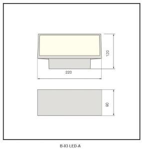 Die-cast aluminium body wall light B-03 LED