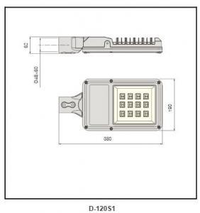 super white tempered glass street light D-120S1
