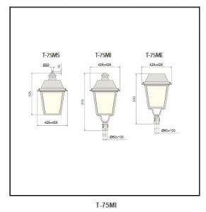 Anodized aluminium reflector  street light T-75MI