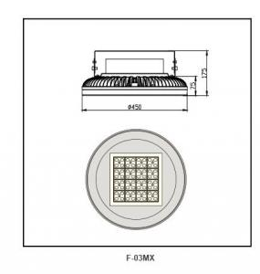 Die-cast aluminium  Highbay Lighting F-03MX