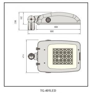 Anodized aluminum reflector  Flood LightTG-401LED