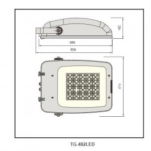 Anodized aluminum reflector  Flood LightTG-402LED