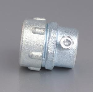 PLUM TYPE SET SCREW FLEXIBLE CONDUIT CONNECTOR-ZINC