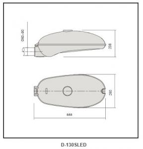 Galvanized steel plate street light D-130SLED