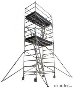 Aluminum Double Width Scaffolding System with Inclined Ladder