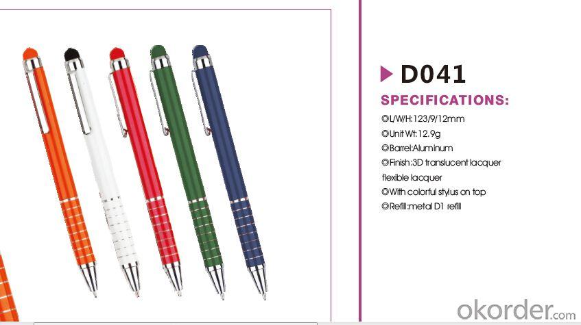 Metal Stylus Pen  Payment protection cheap hotel gift slim twist metal ball pen