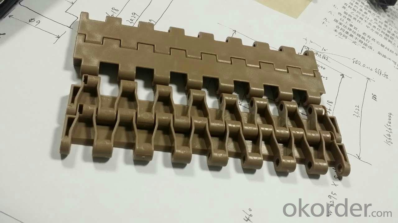 White/Blue/Coffee Color Plastic Modular Conveyor Belt