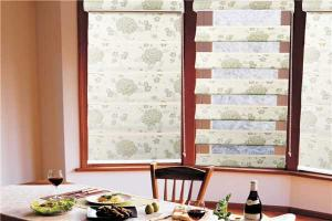 Panels Curtains With Flower Pattern Warp Knitting eyelet