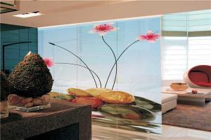 Panel Curtains With Flower Pattern Warp Knitting eyelet
