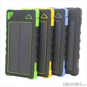 New Design 8000mAh Solar Power Bank Outdoor Waterproof with Flashlight for Cell Phones Mobile