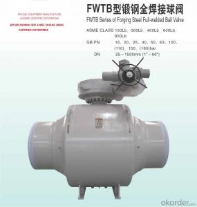 BALL VALVE of Forging Steel Full-welded  API6D/CE/ISO9001 CERTIFIED
