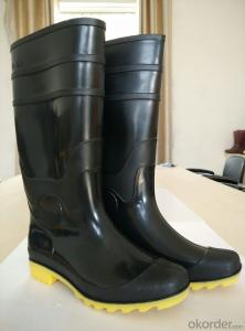 Black PVC Gum Boots for Farming with CE standard Light Duty Work Boot