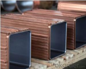 Rectangle copper mould plate used on continuous casting machine