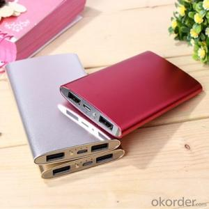 Ultra-Thin 4000mAh Power Bank slim Universal for Portable Devices laptop Mobile Phones and Tablets