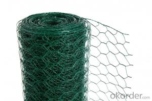 PVC Coated Hexagonal Wire Garden Mesh Fencing with Different Sizes