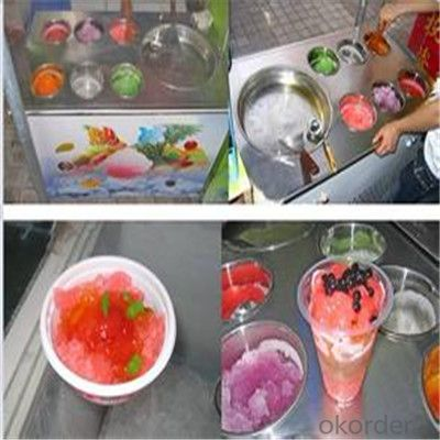Flat Pan Fried Ice Cream Machine, Roll Fry Ice Cream Machine