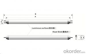 T8 LED Tube 9W (Aluminum+PC) from CNBM ,China