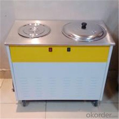Flat Pan Fried Ice Cream Machine, Ice Cream Machine with HIgh Quality