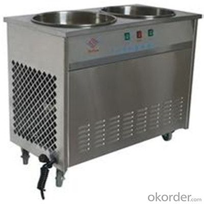 Flat Pan Fried Ice Cream Machine, Thailand Fry Ice Cream Machine
