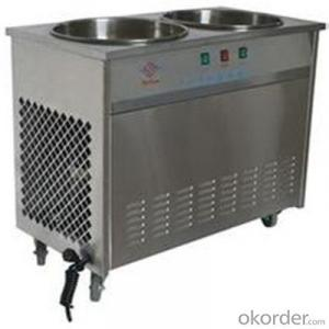 Flat Pan Fried Ice Cream Machine, Thailand Fry Ice Cream Machine CE Approved