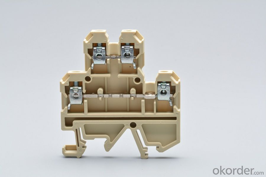 Two-layer Brass Terminal Blocks AWG 24-10