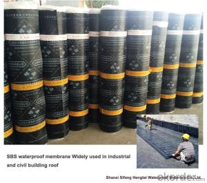 Elastomeric sbs Modified Bitumious waterproofing rolls  for basement or roof
