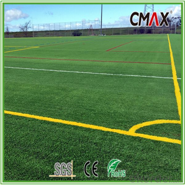 BTFND-35A Football Field 50mm Height Straight and Curly Yarn Artificial Grass