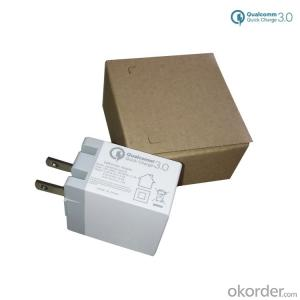 Qualcomm Certified QC 3.0 USB Wall Charger (Quick Charge 2.0 Compatible) with US Plug