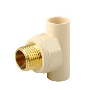 BRASS THREAD MALE TEE CPVC PLASTIC TEE ASTM D2846