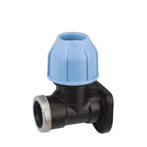 PP WALL PLATE ELBOW FITTING PP COMPRESSION FITTINGS