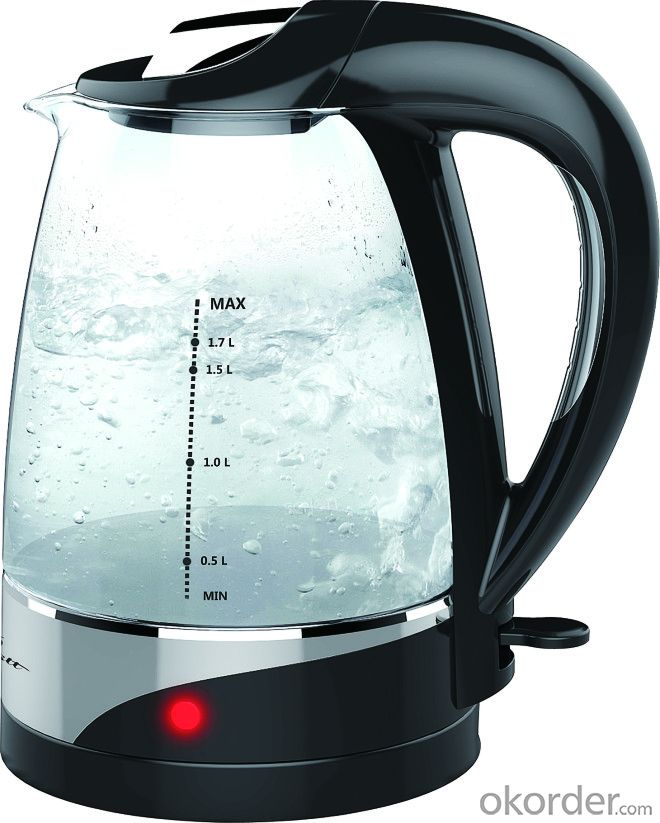 360 rotation electric kettle with glass pot  WK-1202