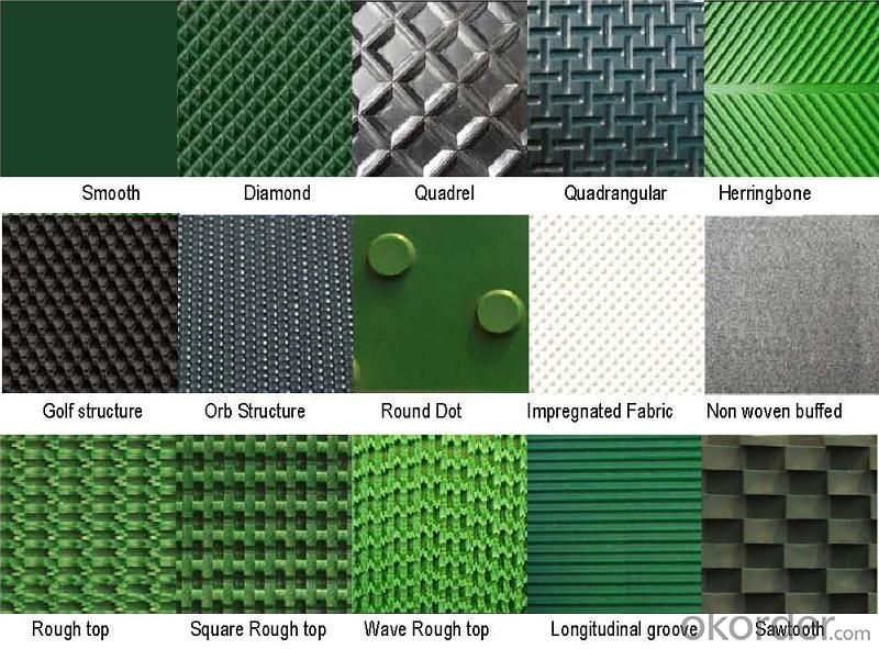PVC/PU Conveyor Belt with Different Surface Pattern