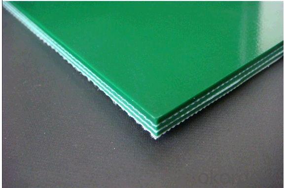 2.0mm Flat PVC Conveyor Belt With Green/Blue/White/Balck Color