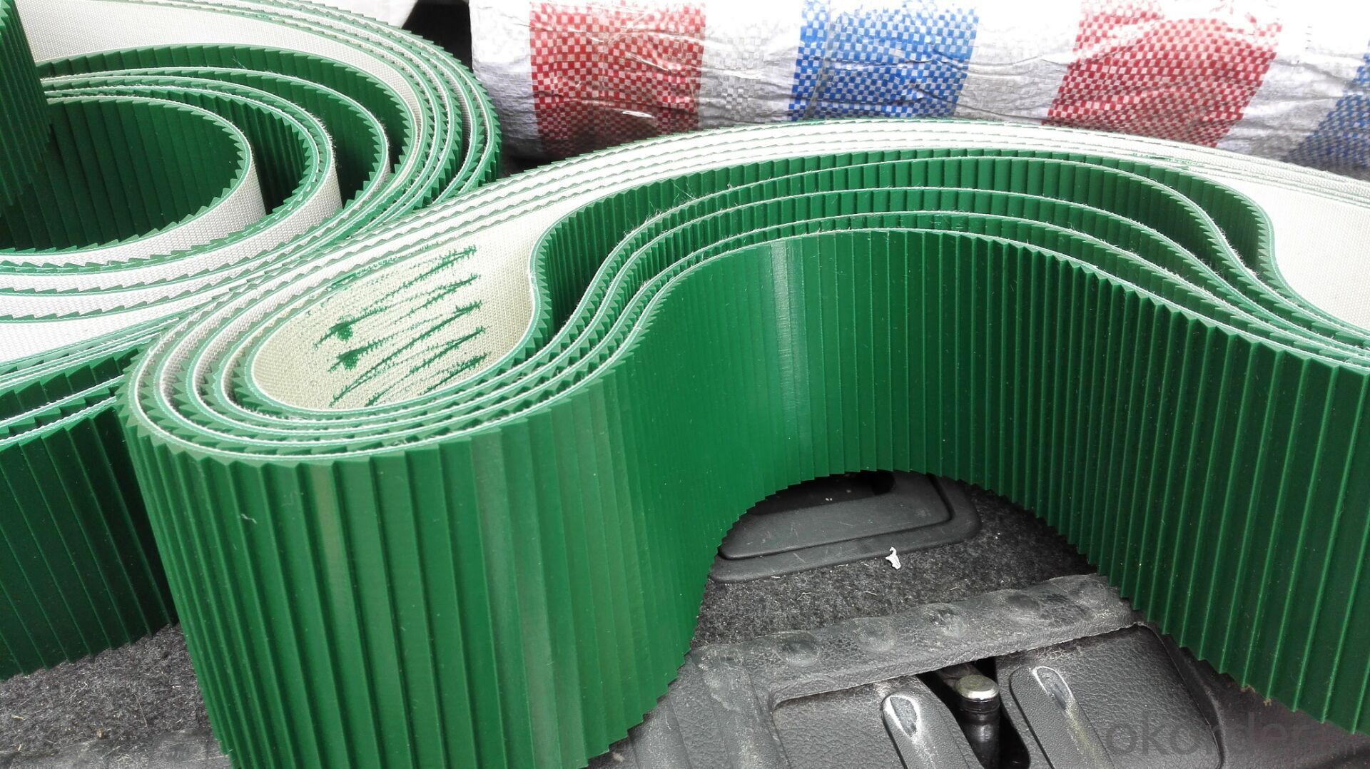 PVC Conveyor Belt Washboard Pattern Used in Sealing Machine