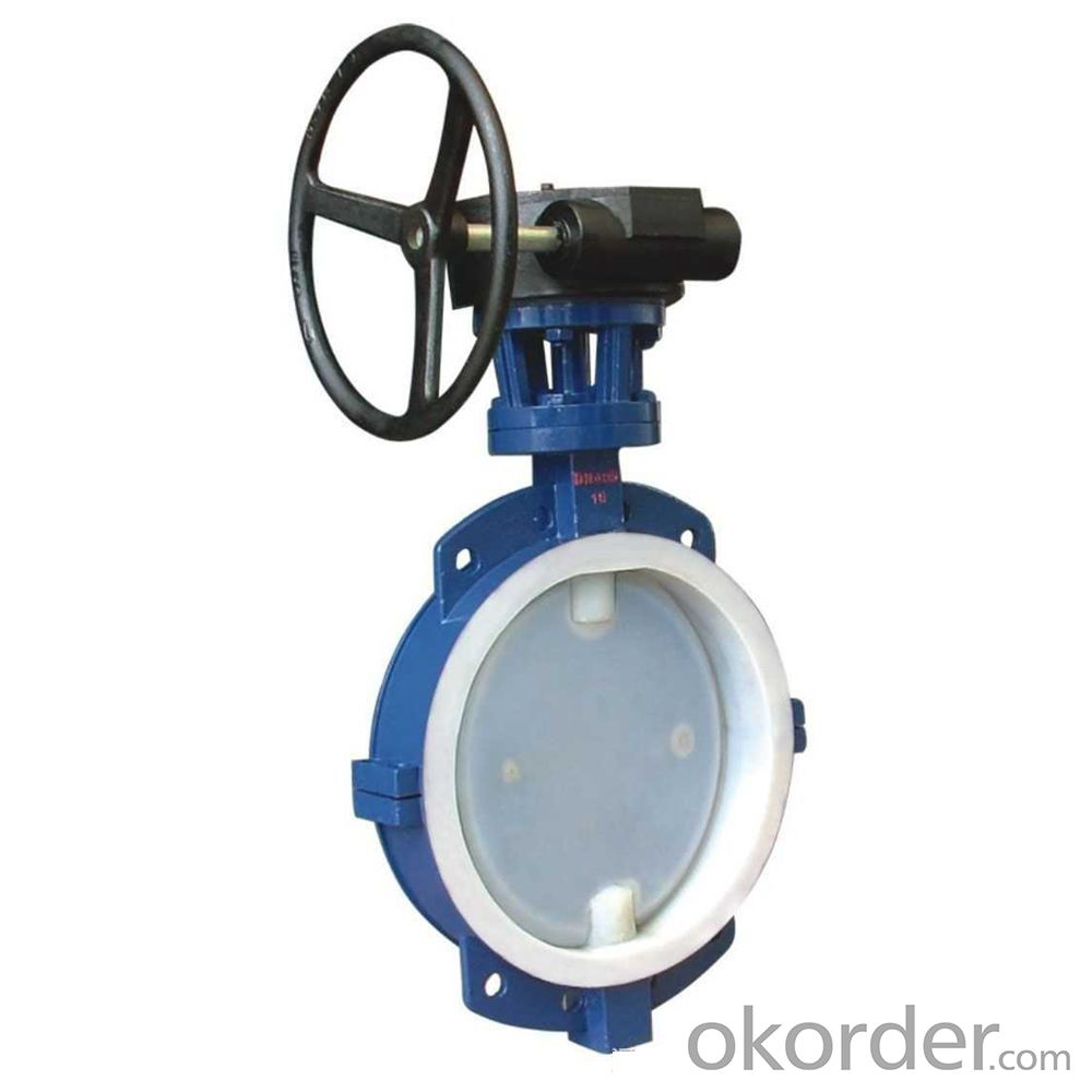 BUTTERFLY VALVE PTFE LINED/COVERED DUCTILE IRON