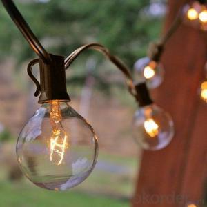 48 FT Black Commercial Medium Suspended 15PCS 20PCS E26 Sockets 11W S14 Vintage Bulb String Light