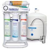 Kitchen Five Grade Household RO System Water Filter with Pump and Iron Shelf