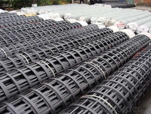 Plastic/Ployester/Fiberglass Geogrid Construction