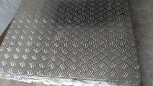 Mill Finish Embossed Five Bar Aluminum Sheet