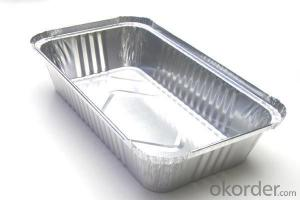 8011 Disposable Aluminium Foil Container For Fast Food Packaing