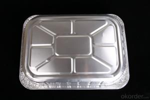 Rectangle Aluminium Foil Container For Lunch Box